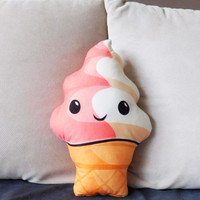 Ice cream pillow, kawaii ice cream plush, ice cream toy, food pillow