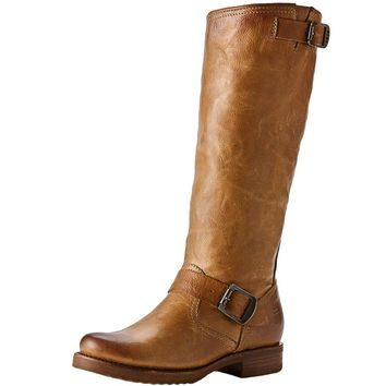 Veronica Slouch Boot in Camel by The Frye Company - FINAL SALE