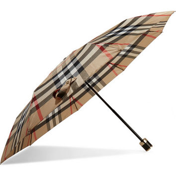 Burberry - Checked shell umbrella