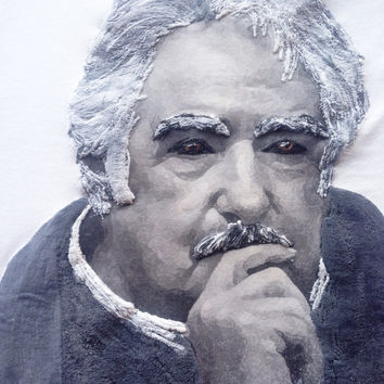 Jose Pepe Mujica T-shirt President of Uruguay Painted