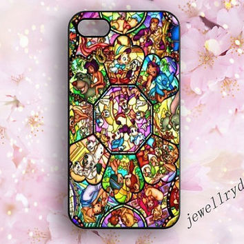 All Disney Heroes on Stained Glass iPhone 4/4s iPhone cover,5/5s iphone case,iPhone 5c case,Samsung galaxy S3 S4 S5,Cell Phone,Accessories