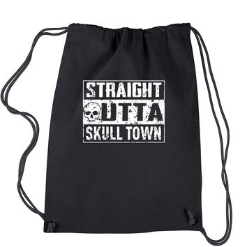 Straight Outta Skull Town Drawstring Backpack