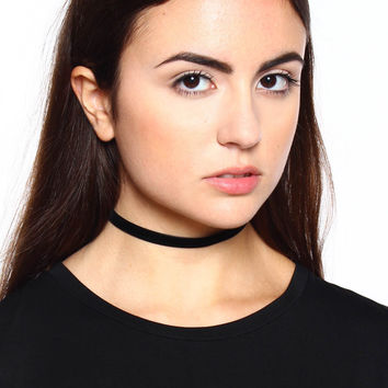 About Time Velvet Choker