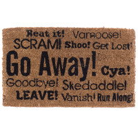"""Go Away Synonyms"" Doormat by Coco Mats N More"