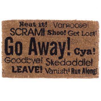 """""""Go Away Synonyms"""" Doormat by Coco Mats N More"""