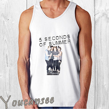 5sos album - men tank top ---print screen tank top for men, Awesome tank top for Man,Size S --- 3XL