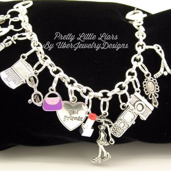 Pretty Little Liars Charm Bracelet Jewelry geekery style #2