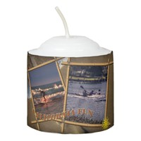 California fun, votive candle