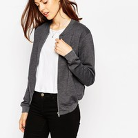 ASOS The Bomber Jacket In Jersey at asos.com