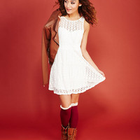 On-The-Dot Crochet Lace Dress | Wet Seal