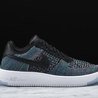 AIR FORCE ONE ULTRA FLYKNIT LOW - BLACK / BLUE LAGOON AF1