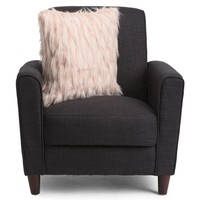 DESIGNER Faux Fur Blush Throw Pillow