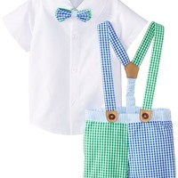 Mud Pie Baby Boys Newborn Three-Piece Suspender Set