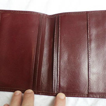 Leather Passport Cover, Vintage Travel Document Case, , Genuine Leather Passport Holder,  Leather Wallet, Dark Bordeaux , Burgundy