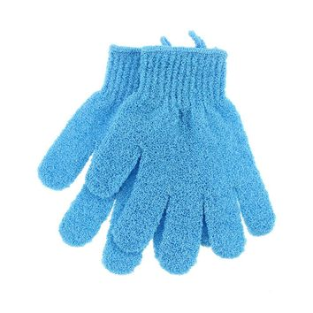 1 Pair Exfoliating Five Finger Body Scrubber Gloves