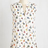ModCloth Mid-length Sleeveless Montgolfier for the Day Top