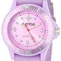 RumbaTime Unisex 12023 Perry Nylon Sweet Lilac Modern Stylish Analog Watch