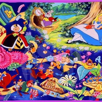 alice in wonderland Rectangle Pillowcases zipper Fashionable Custom Pillow Case New arrived 45x35cmSQ00707-@H069