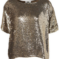 **Sequin Tee by Unique - Clothing
