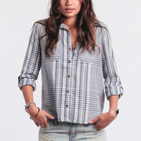 Clear Skies Plaid Button-Up
