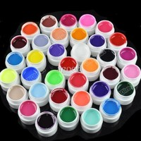 36 Pots Cover Pure Colors UV Gel for UV Nail Art Tips Extension Professional Nail Art UV Gel Set - 1 Set