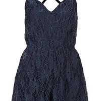 **Chenille Lace Playsuit by Coco's Fortune - Brands at Topshop -New In This Week- New In