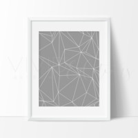 Gray Abstract Triangles