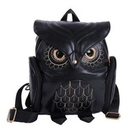 Flap Leather Mini Backpack