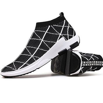 Mens Womens Knit Running Shoes for Couples Lightweight Breathable Tennis Walking Shoes Fashion Sneakers Casual Athletic Sport Gym..