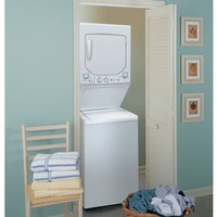 Shop GE Gas Stacked Laundry Center with 2-cu ft Washer and 4.4-cu ft Dryer (White) at Lowes.com