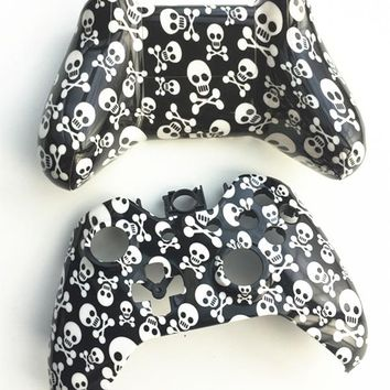 Custom Skull Design Front & Back shell Controller case Skin cover For Microsoft XBOX One Wireless Controller Gamepad Replacement