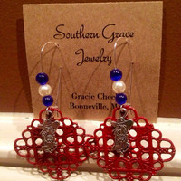 Colonel Rebel Ole Miss Earrings by SouthernGraceCompany on Etsy