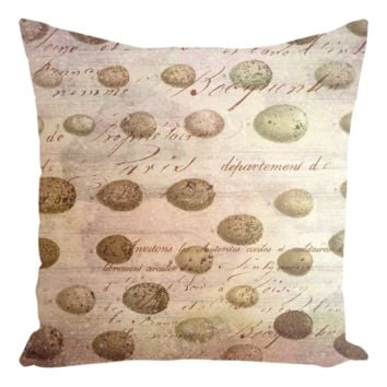 French Country Eggs Throw Pillows
