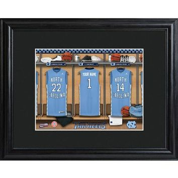 College Basketball Locker Room Print  Free Personalization