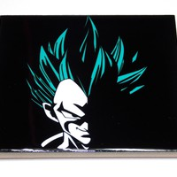 God Mode Vegeta DragonBall Z Ceramic Coasters Vibrant Colors High Gloss Finish