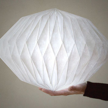 HEAVEN KNOWS  |||  CLOUDY   -  origami lampshade