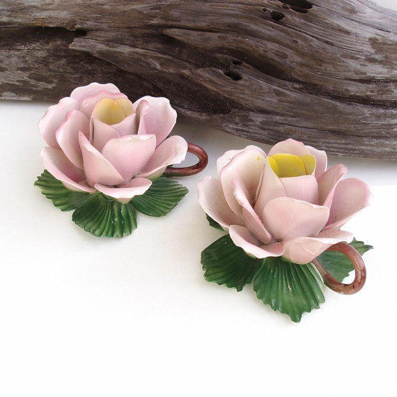 Flower Candle Holder Porcelain Flowers From Whimzy Thyme