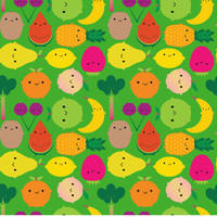 Removable Wallpaper - Fruitbowl by Marceline Smith