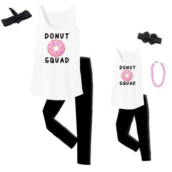 Donut Squad Tank Top White Mommy Me