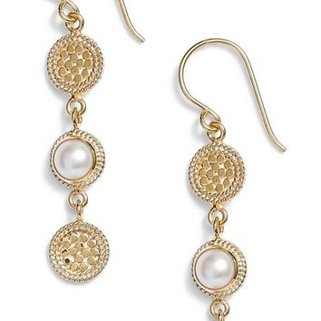 Anna Beck Pearl Triple Disc Drop Earrings | Nordstrom