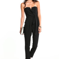 WRAP SWEETHEART JUMPSUIT