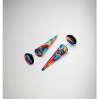 Rainbow Swirl Fake Taper Set