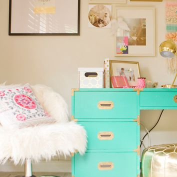 A Charming Desk Space with O My Darlings Blog - Pottery Barn