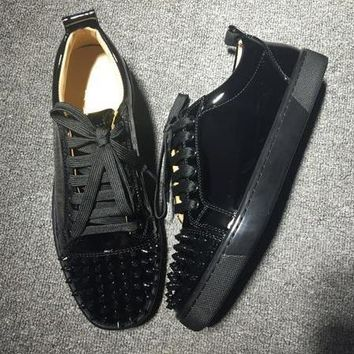 Cl Christian Louboutin Louis Junior Style #2035 Sneakers Fashion Shoes - Sale