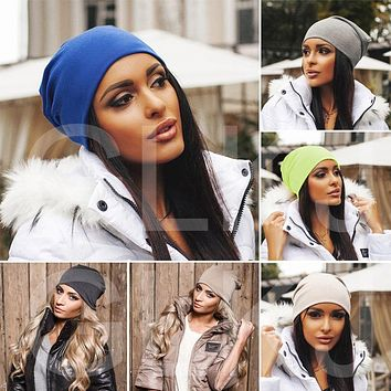 Blended Beanie Slouch Warm Skullies Women Lady Fashion Jersey Cotton Hat Festival Unisex Mens Ladies Cap Spring Fall