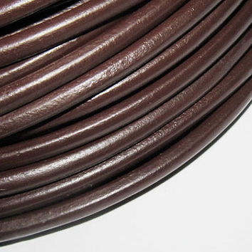 5 mm dark brown round leather, bracelet findings, leather supplies