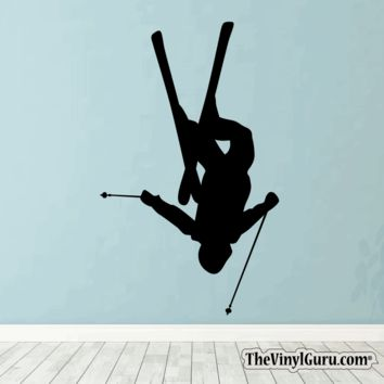 Skiing Wall Decal - Ski Sticker #00003