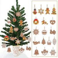 CREYHY3 ASLT 17pcs/lot Deer Snowman Pendant Chrismas Tree Christmas Gift Santa claus Christmas Decoration Supplies Arbol De Navidad