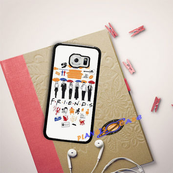 FRIENDS Collage Drawing Samsung Galaxy S6 Edge Case Planetscase.com