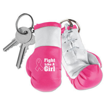 Fight Like A Girl Miniature Boxing Glove Key Chain | Positive Promotions